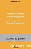 Paroles d'enfants, paroles de juges