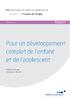 Pour un développement complet de l'enfant et de l'adolescent - application/data